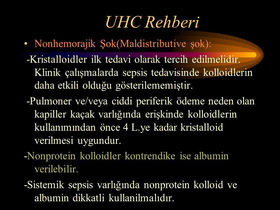 UHC Rehberi Nonhemorajik Şok(Maldistributive şok):