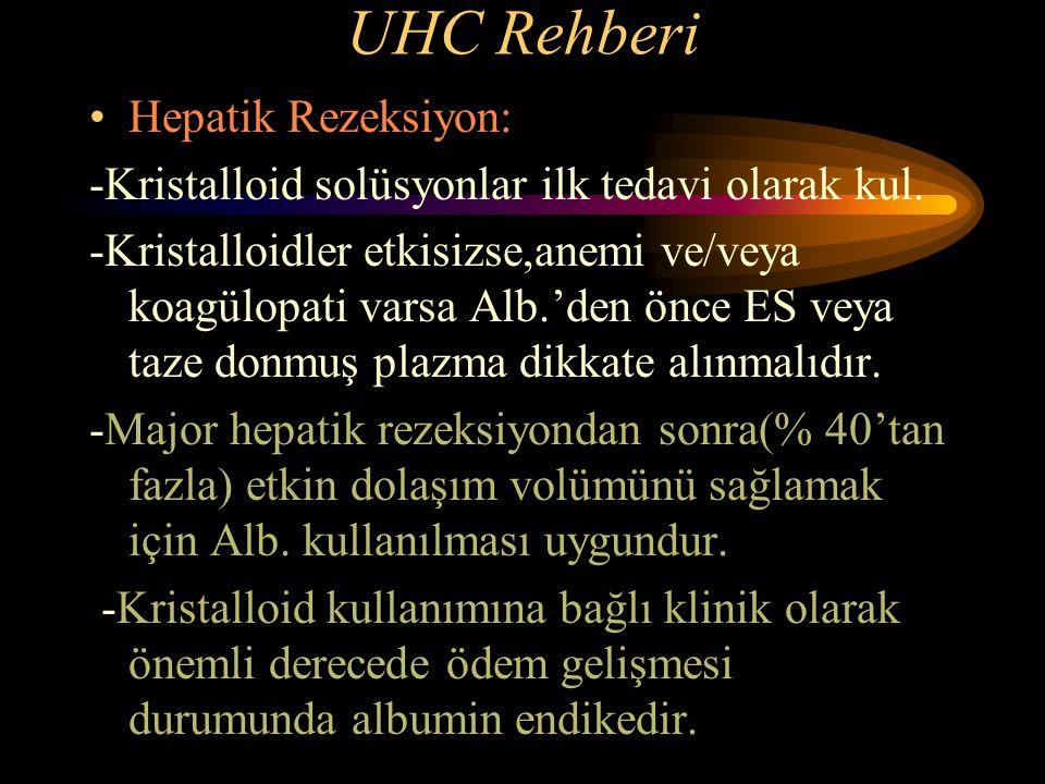 UHC Rehberi Hepatik Rezeksiyon: