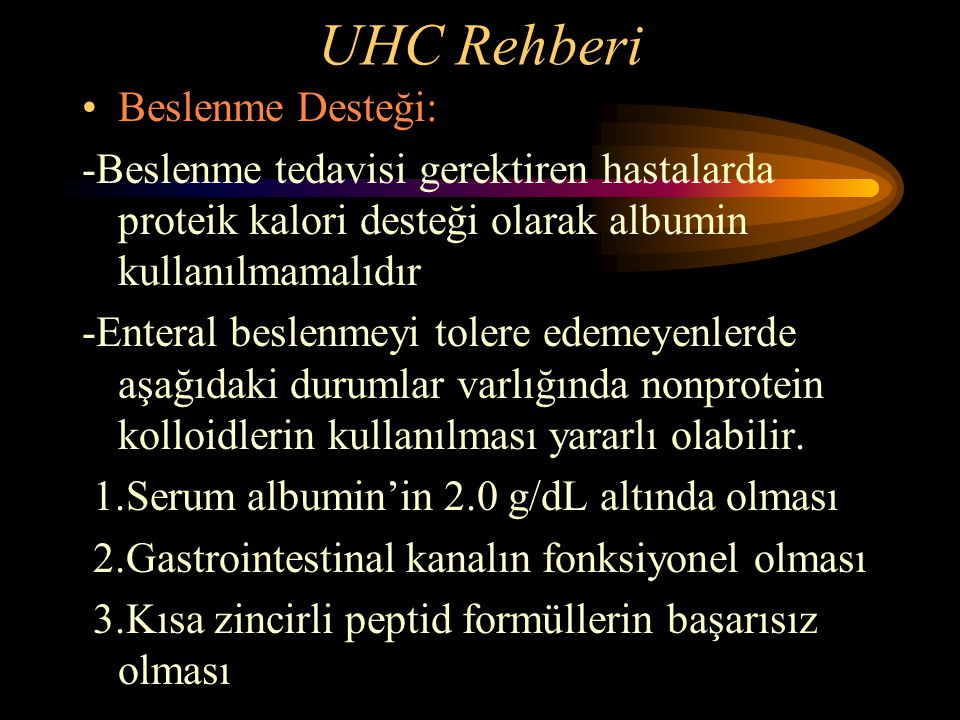 UHC Rehberi Beslenme Desteği: