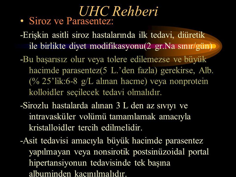 UHC Rehberi Siroz ve Parasentez: