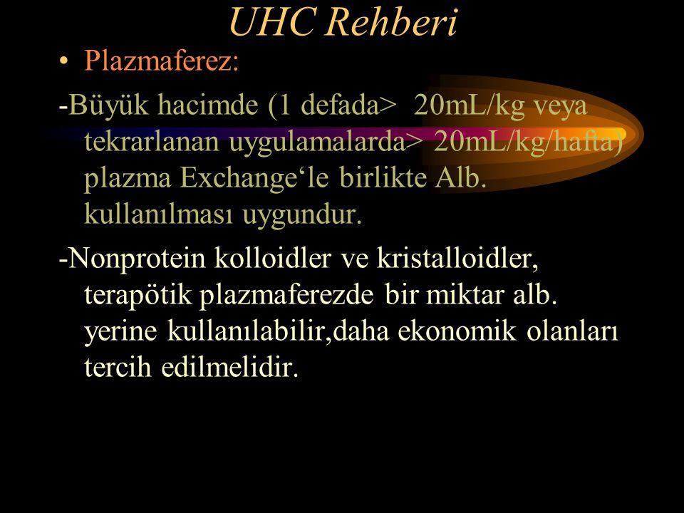 UHC Rehberi Plazmaferez: