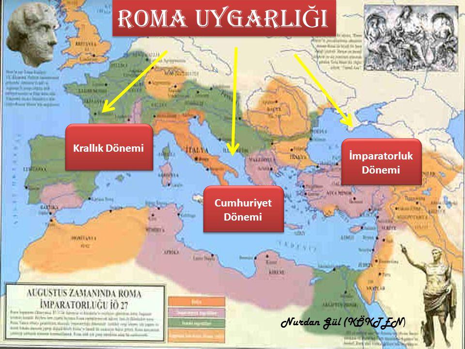 Roma uygarlIĞI Krallık Dönemi İmparatorluk Dönemi Cumhuriyet Dönemi