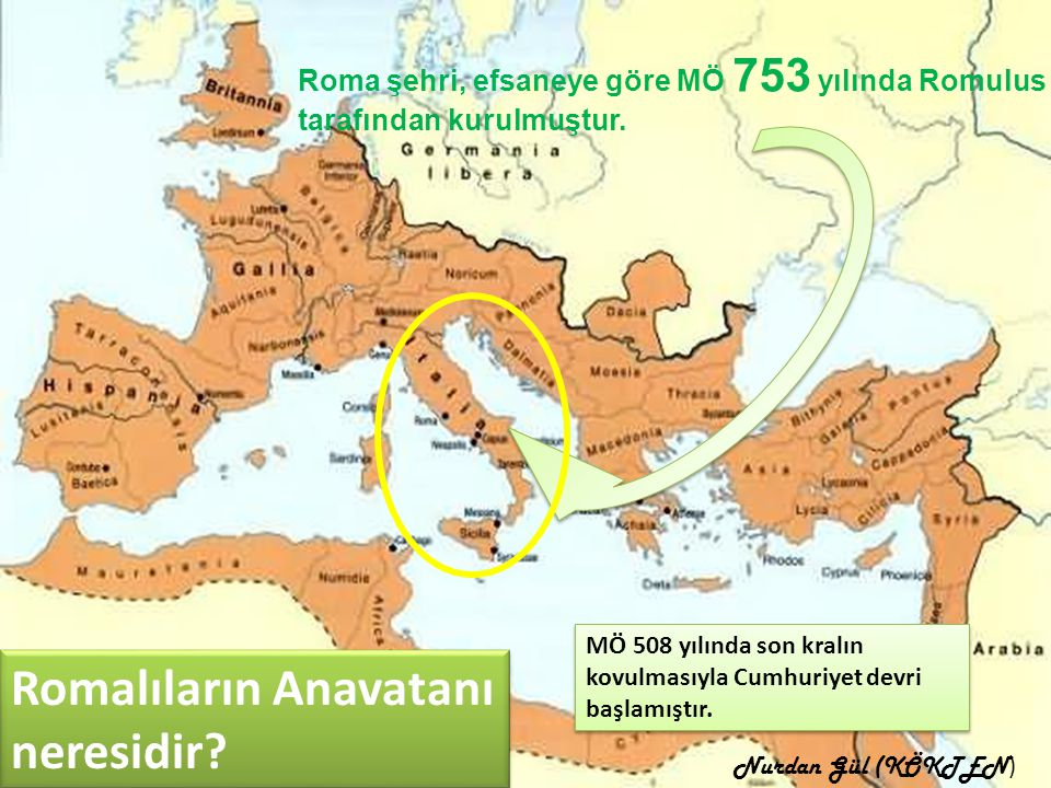 Romalıların Anavatanı neresidir
