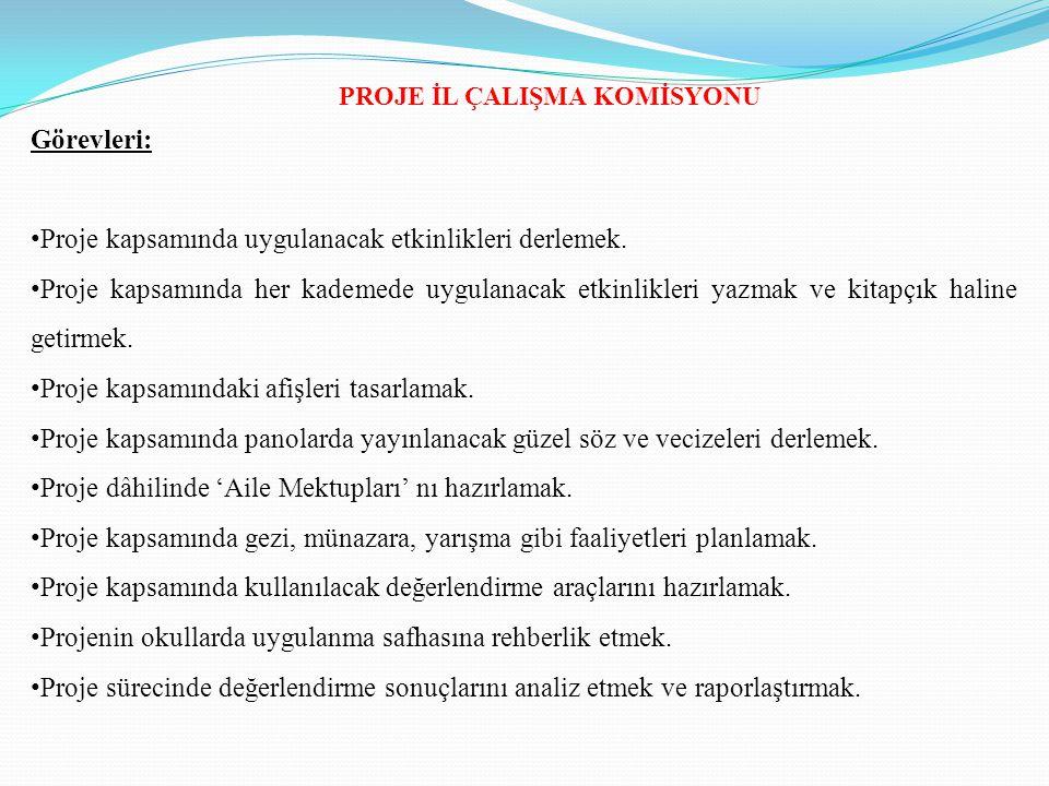 PROJE İL ÇALIŞMA KOMİSYONU