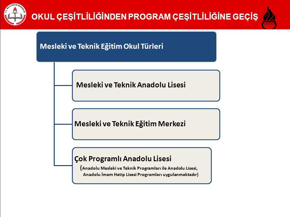 Mesleki ve Teknik Eğitim Okul Türleri Mesleki ve Teknik Anadolu Lisesi