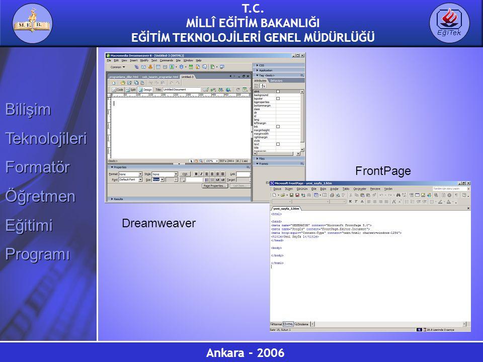 FrontPage Dreamweaver