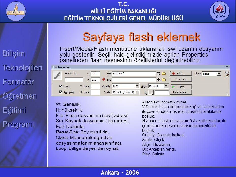 Sayfaya flash eklemek