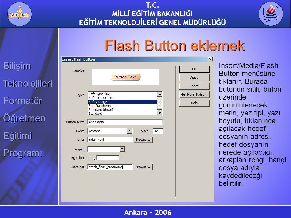 Flash Button eklemek