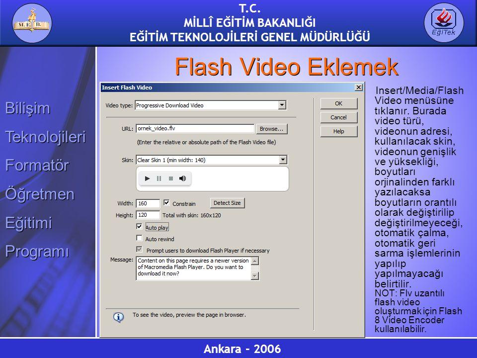 Flash Video Eklemek