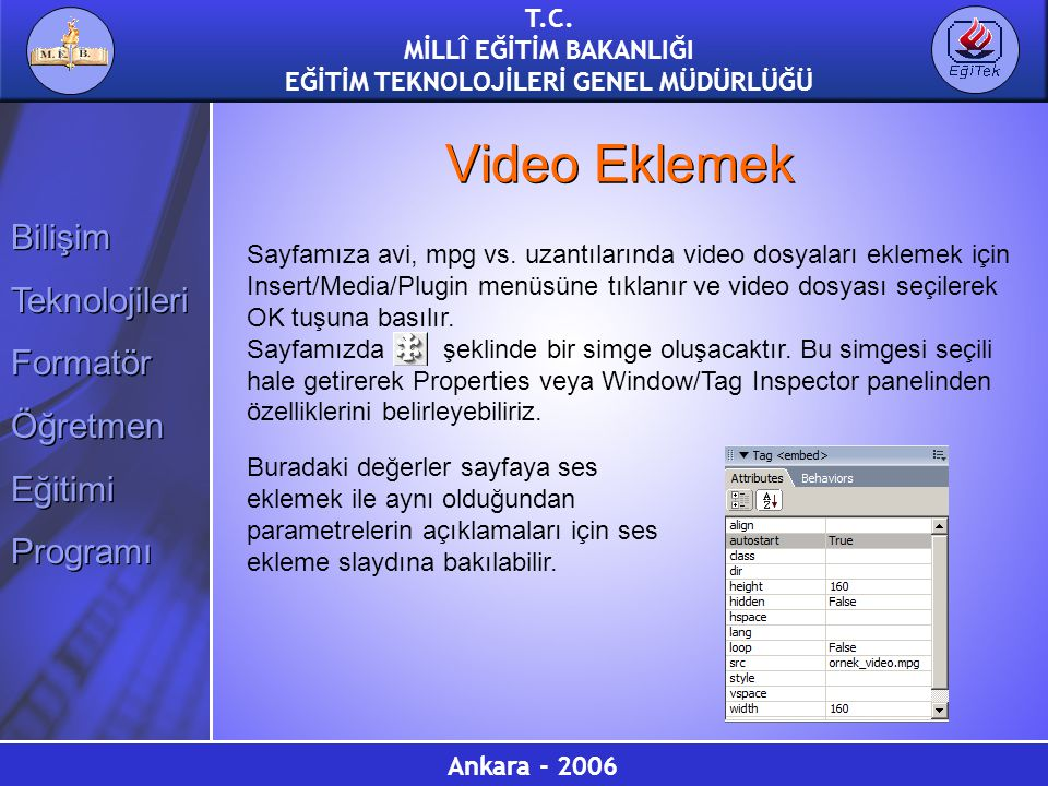 Video Eklemek