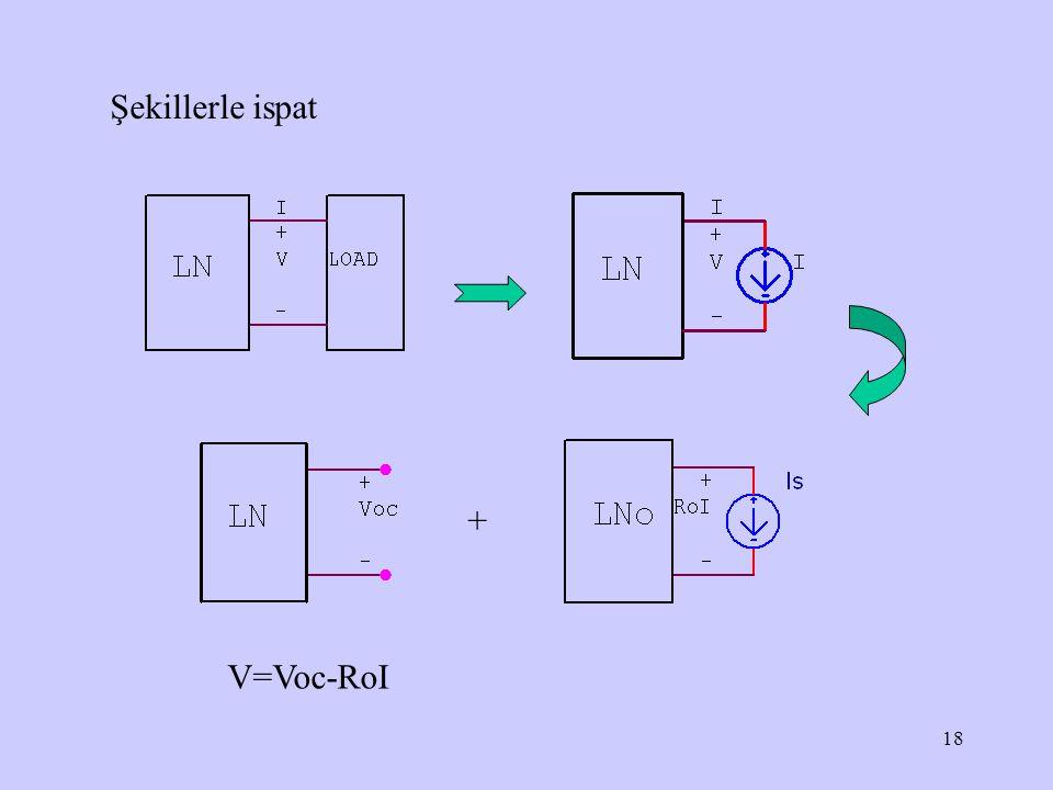 Şekillerle ispat + V=Voc-RoI