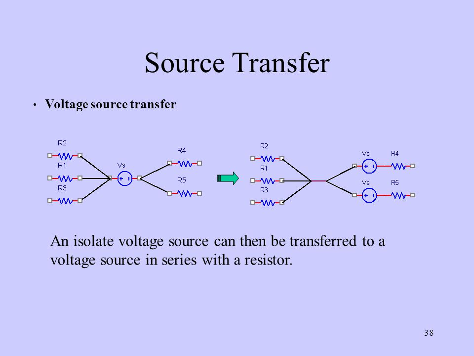 Source Transfer Voltage source transfer.