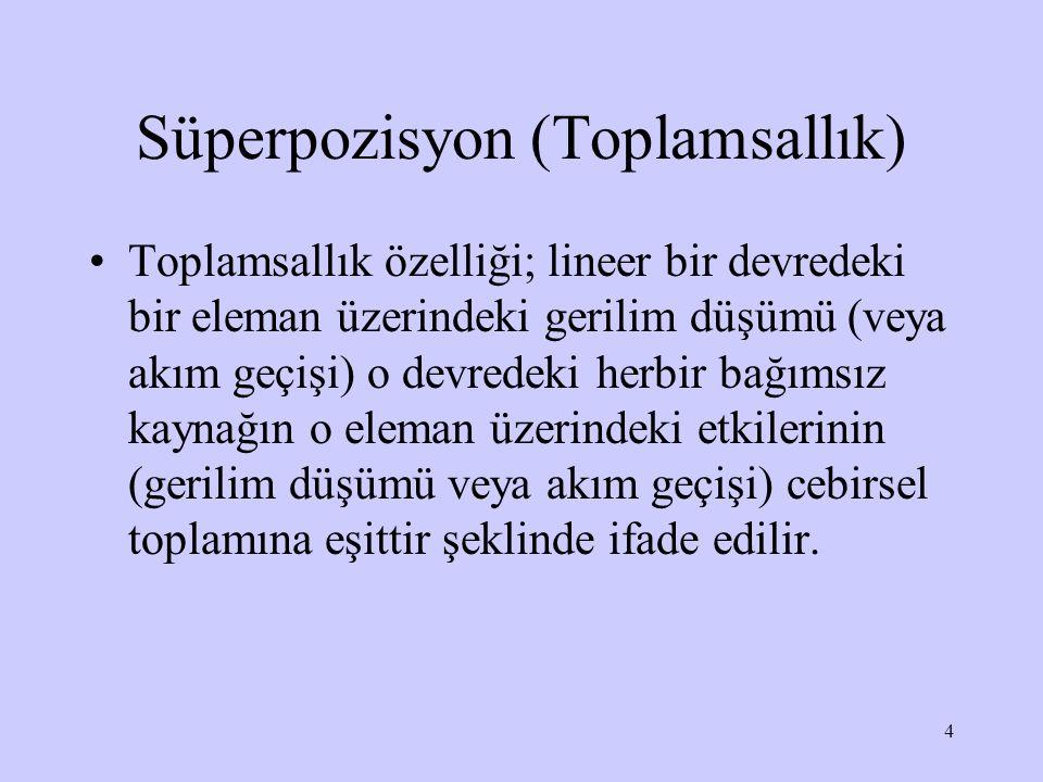 Süperpozisyon (Toplamsallık)