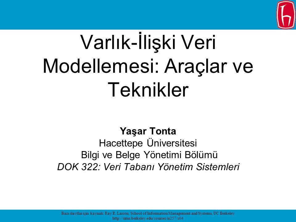 Varlık-İlişki Veri Modellemesi: Araçlar ve Teknikler