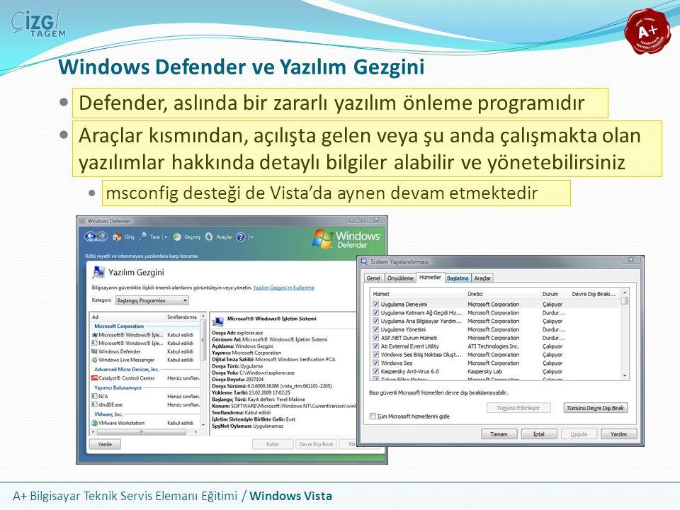 Windows Defender ve Yazılım Gezgini
