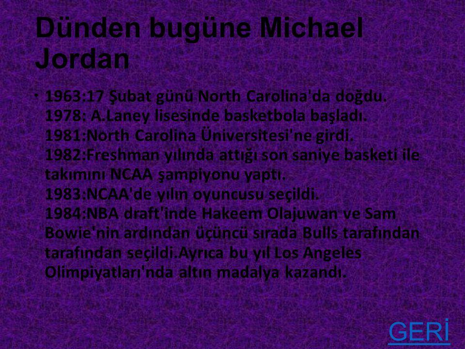 Dünden bugüne Michael Jordan