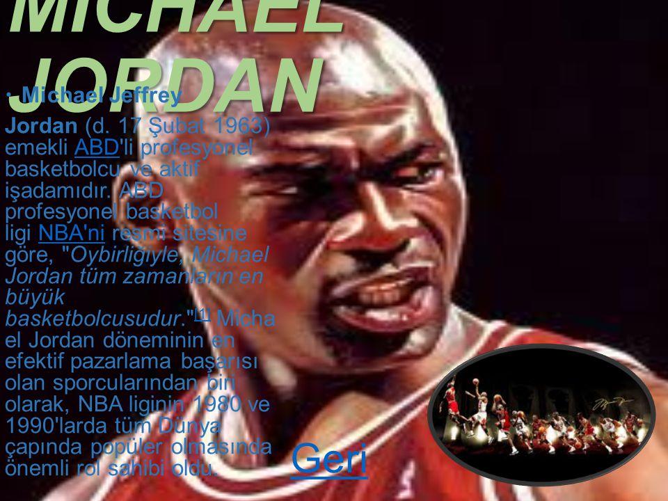 MICHAEL JORDAN Geri Michael Jeffrey