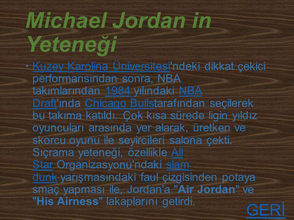Michael Jordan in Yeteneği