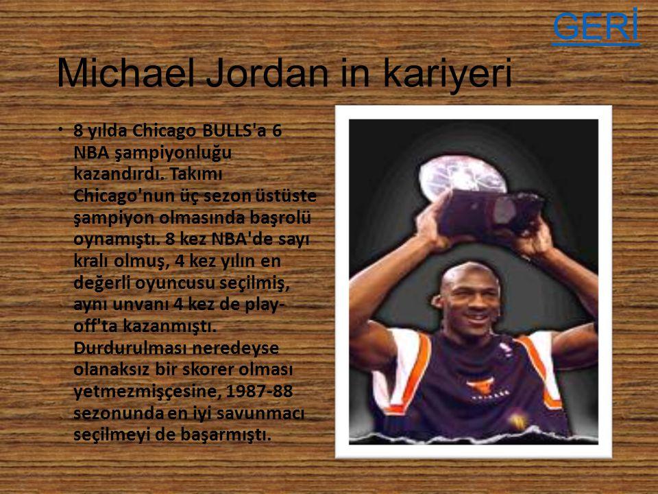 Michael Jordan in kariyeri