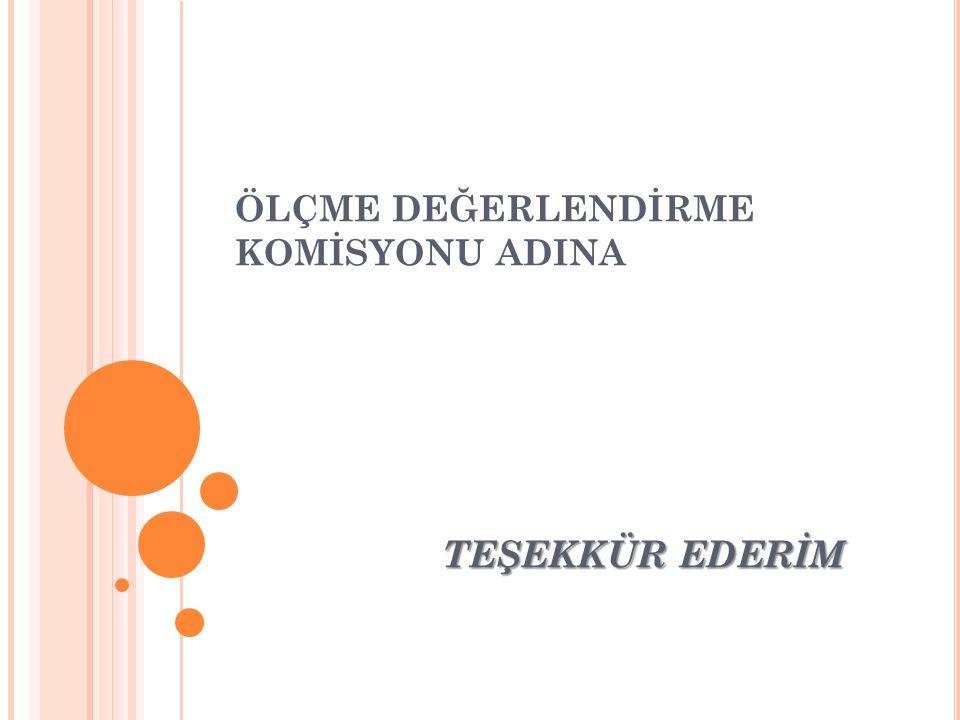 ÖLÇME DEĞERLENDİRME KOMİSYONU ADINA