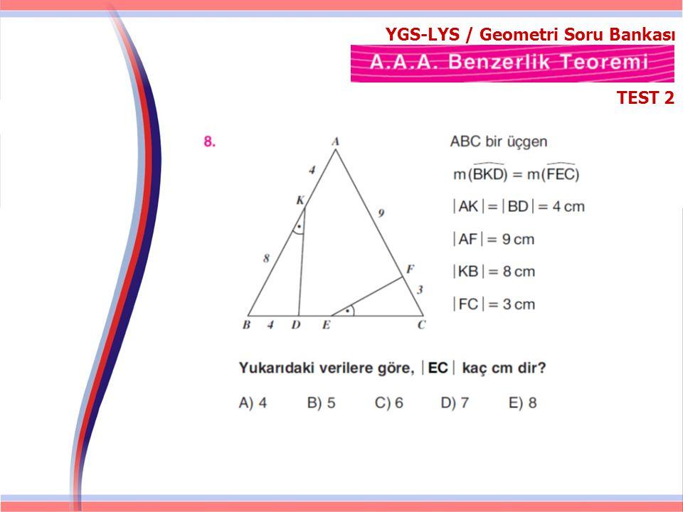 YGS-LYS / Geometri Soru Bankası