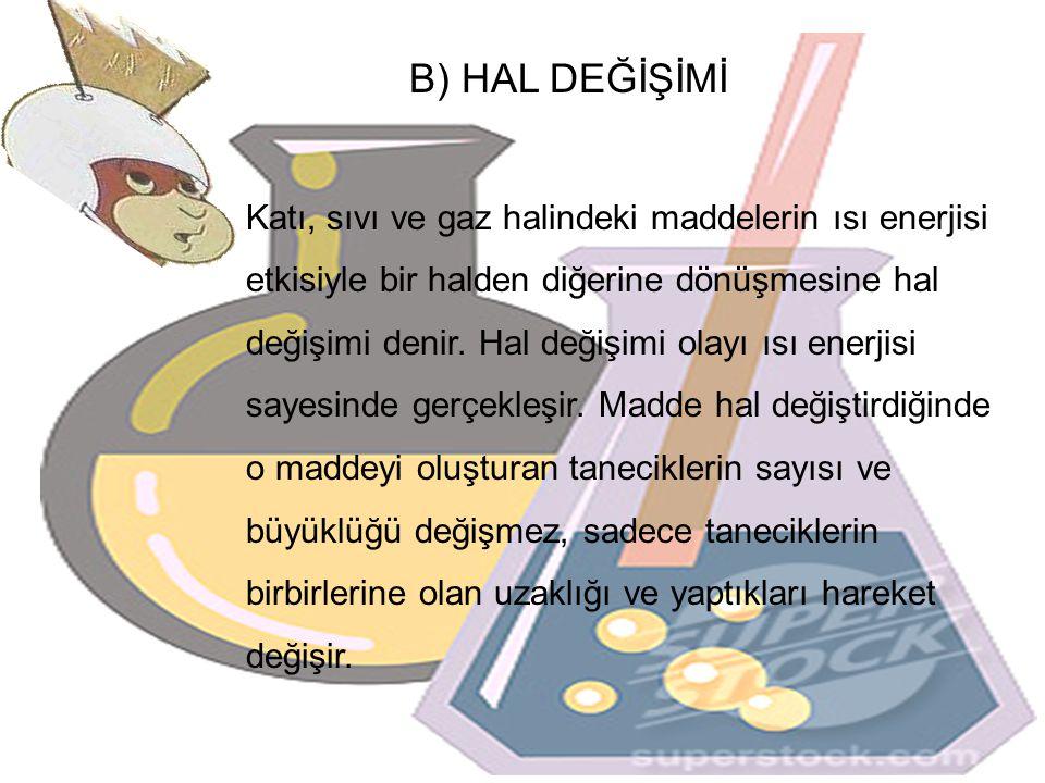 B) HAL DEĞİŞİMİ
