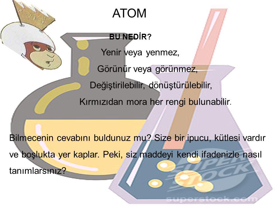 ATOM Görünür veya görünmez, Değiştirilebilir, dönüştürülebilir,