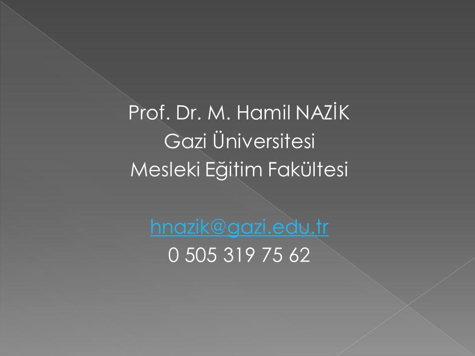 Prof. Dr. M.