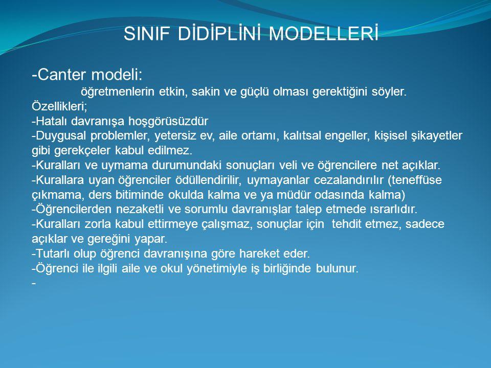 SINIF DİDİPLİNİ MODELLERİ