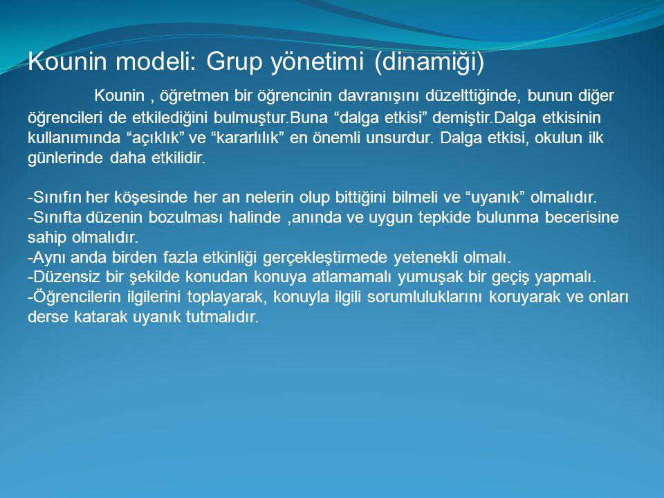 Kounin modeli: Grup yönetimi (dinamiği)