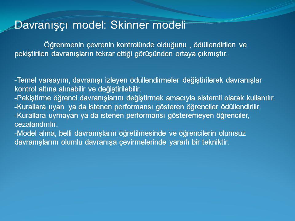 Davranışçı model: Skinner modeli