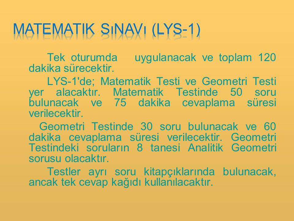 Matematik sınavı (lys-1)