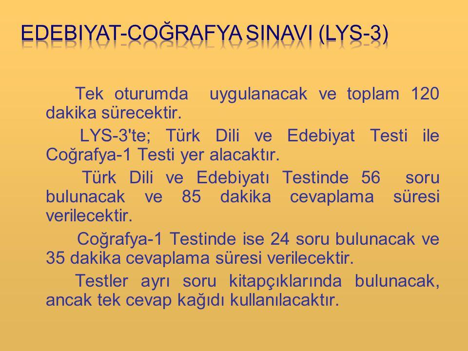 EDEBIYAT-COĞRAFYA SINAVI (LYS-3)
