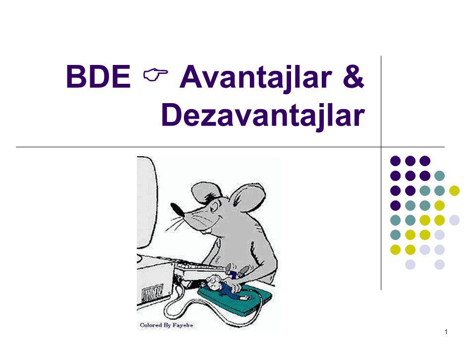 BDE  Avantajlar & Dezavantajlar