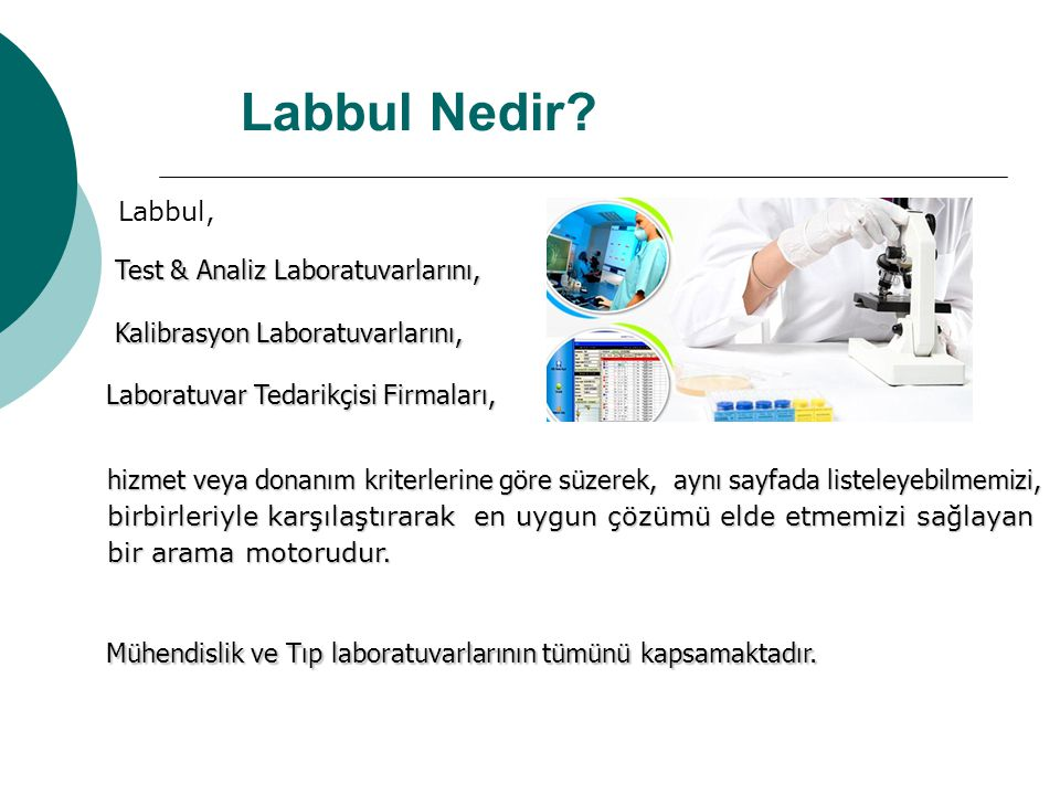 Labbul Nedir Labbul, Test & Analiz Laboratuvarlarını,