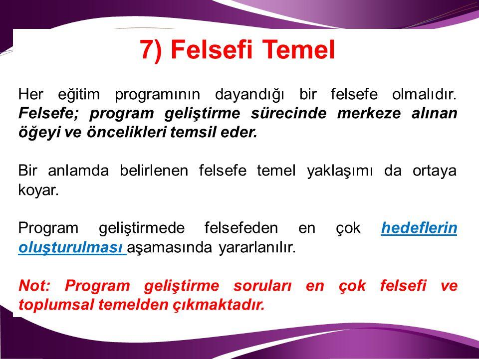 7) Felsefi Temel