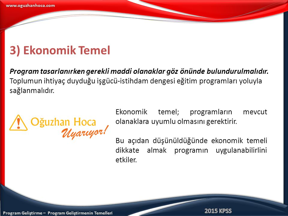 3) Ekonomik Temel