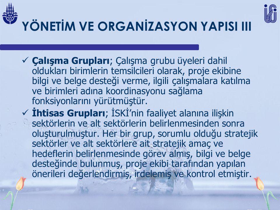 YÖNETİM VE ORGANİZASYON YAPISI III