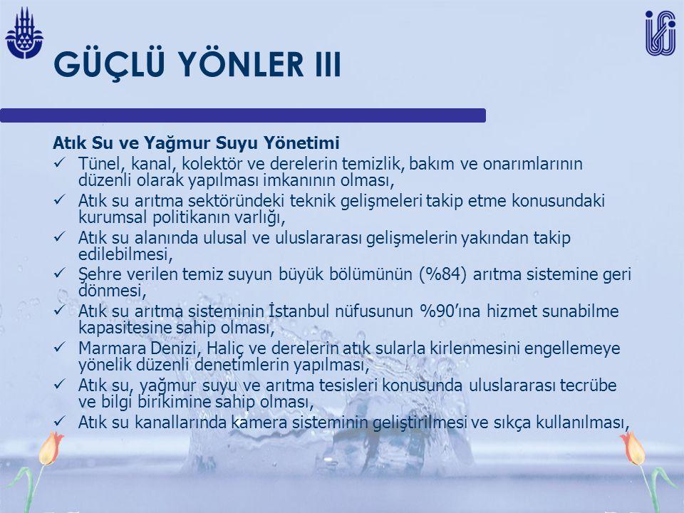 GÜÇLÜ YÖNLER III Atık Su ve Yağmur Suyu Yönetimi
