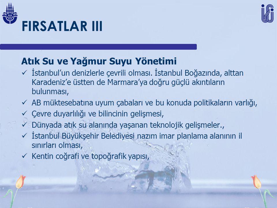 FIRSATLAR III Atık Su ve Yağmur Suyu Yönetimi