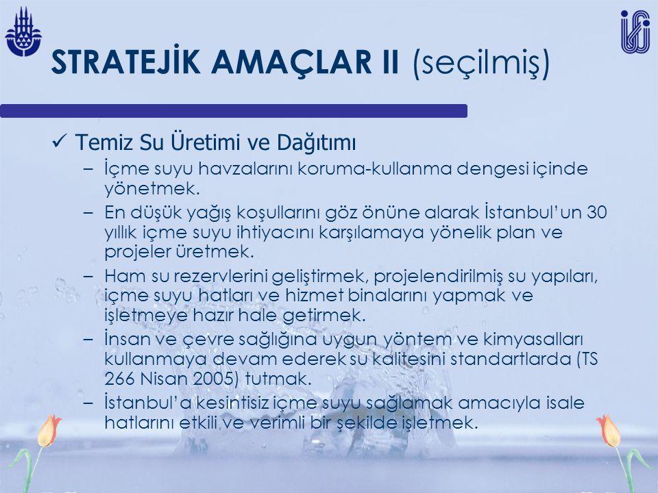 STRATEJİK AMAÇLAR II (seçilmiş)