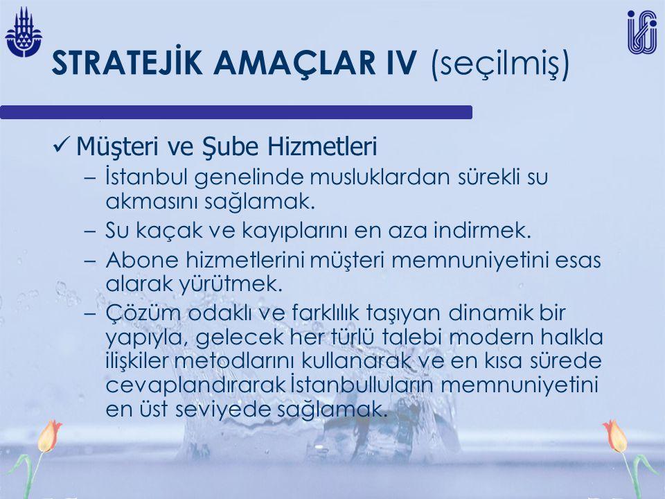 STRATEJİK AMAÇLAR IV (seçilmiş)