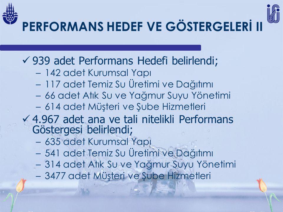 PERFORMANS HEDEF VE GÖSTERGELERİ II