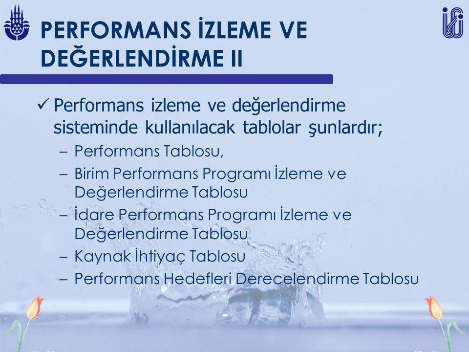 PERFORMANS İZLEME VE DEĞERLENDİRME II