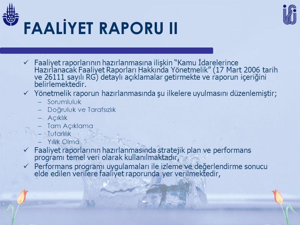 FAALİYET RAPORU II