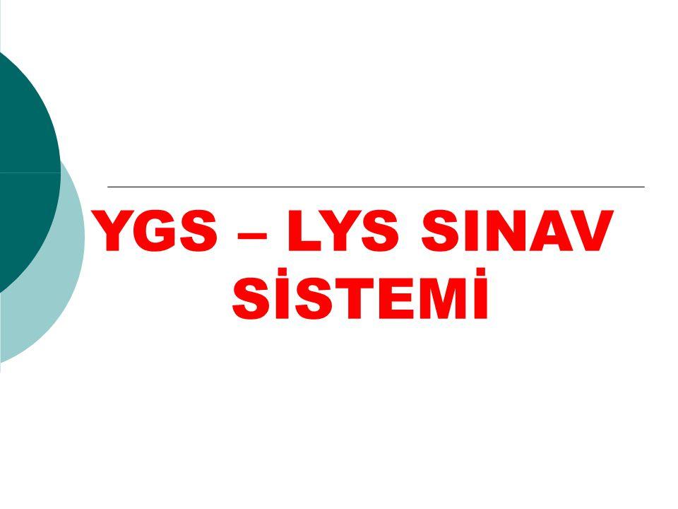 YGS – LYS SINAV SİSTEMİ
