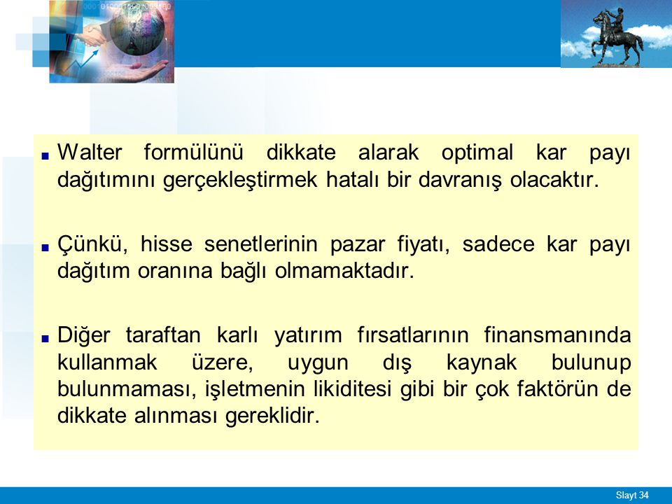 ENFLASYON VE KAR DAĞITIM POLİTİKASI