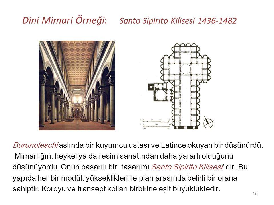 Dini Mimari Örneği: Santo Sipirito Kilisesi 1436-1482