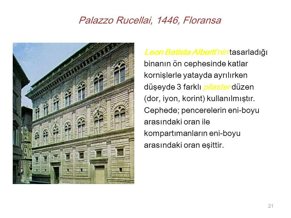 Palazzo Rucellai, 1446, Floransa