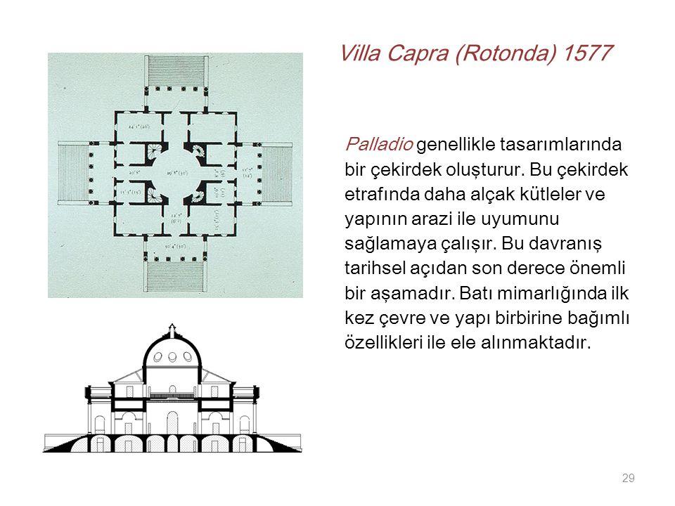 Villa Capra (Rotonda) 1577 Palladio genellikle tasarımlarında